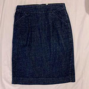 Dresses & Skirts - JCrew Denim Pencil Skirt size 6